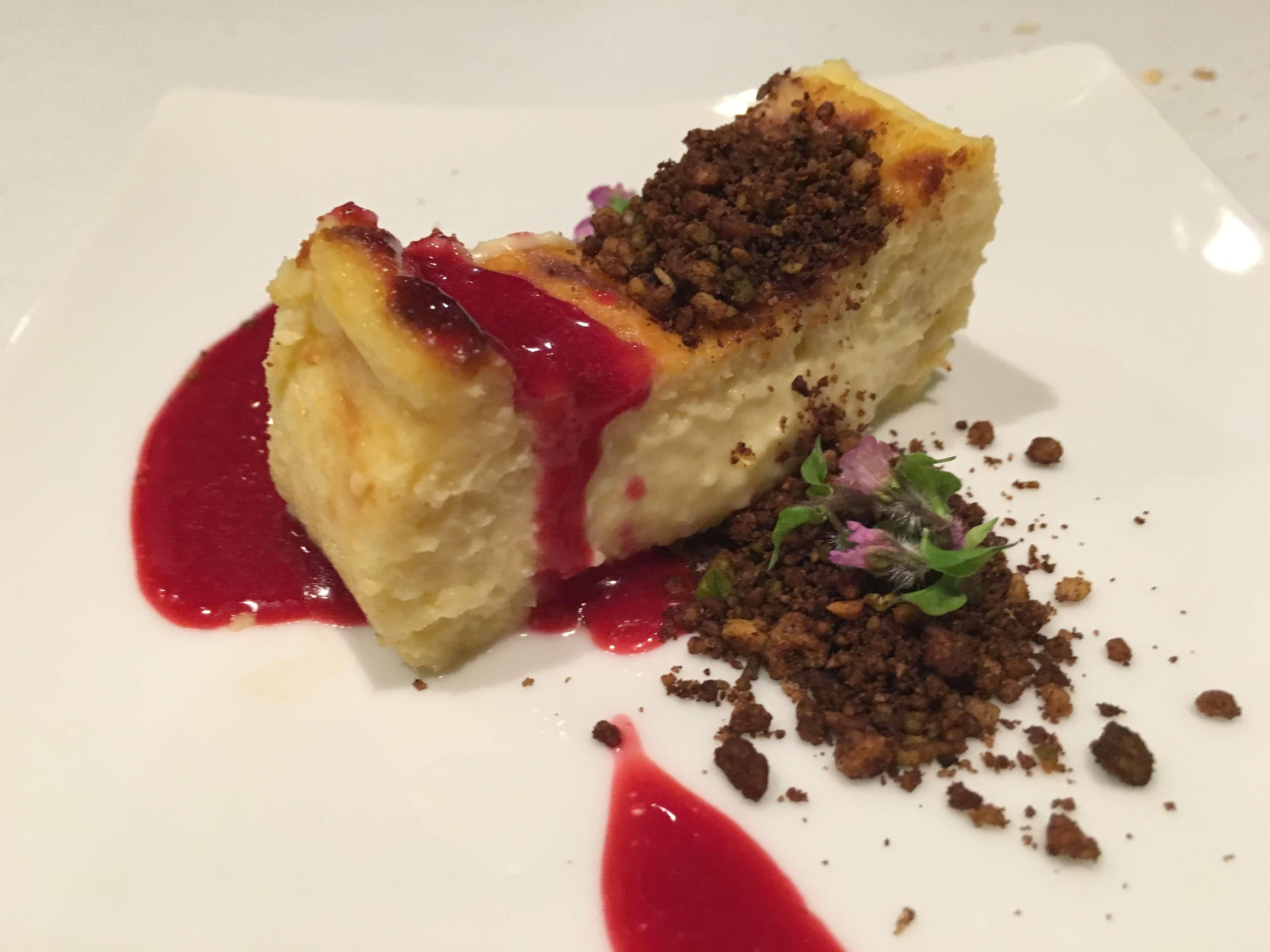 ブルーチーズのチーズケーキ @スペイン料理アロス