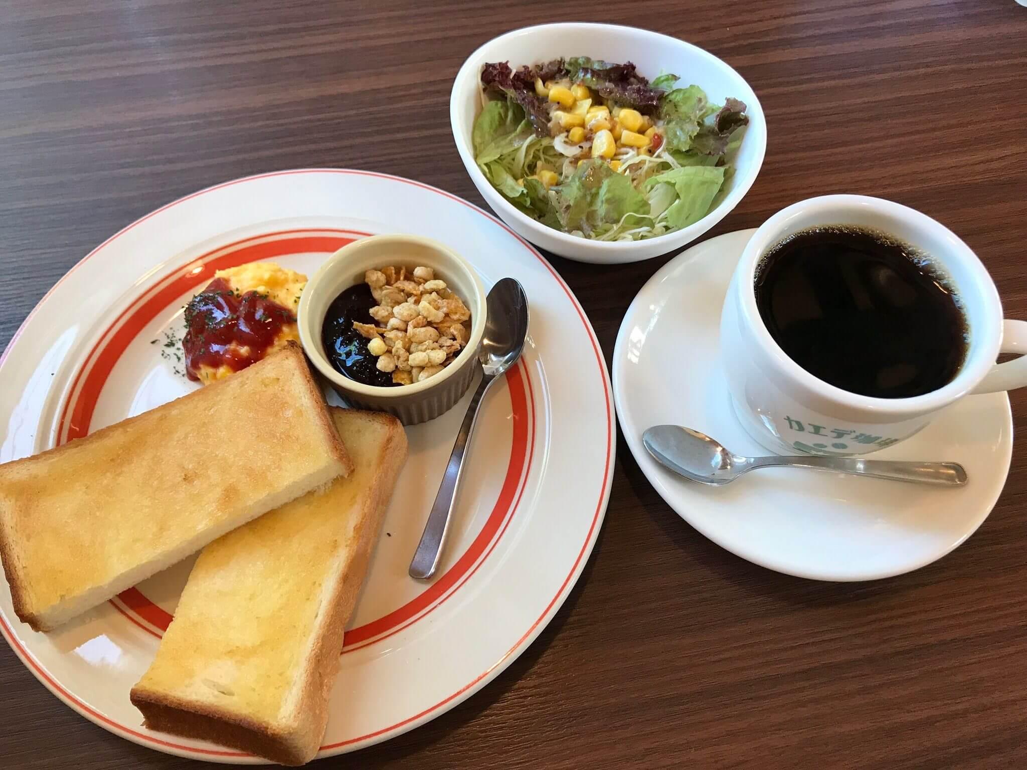 「 カエデ珈琲 」コーヒー頼めば無料の至福の時。カエデ珈琲のモーニング♫