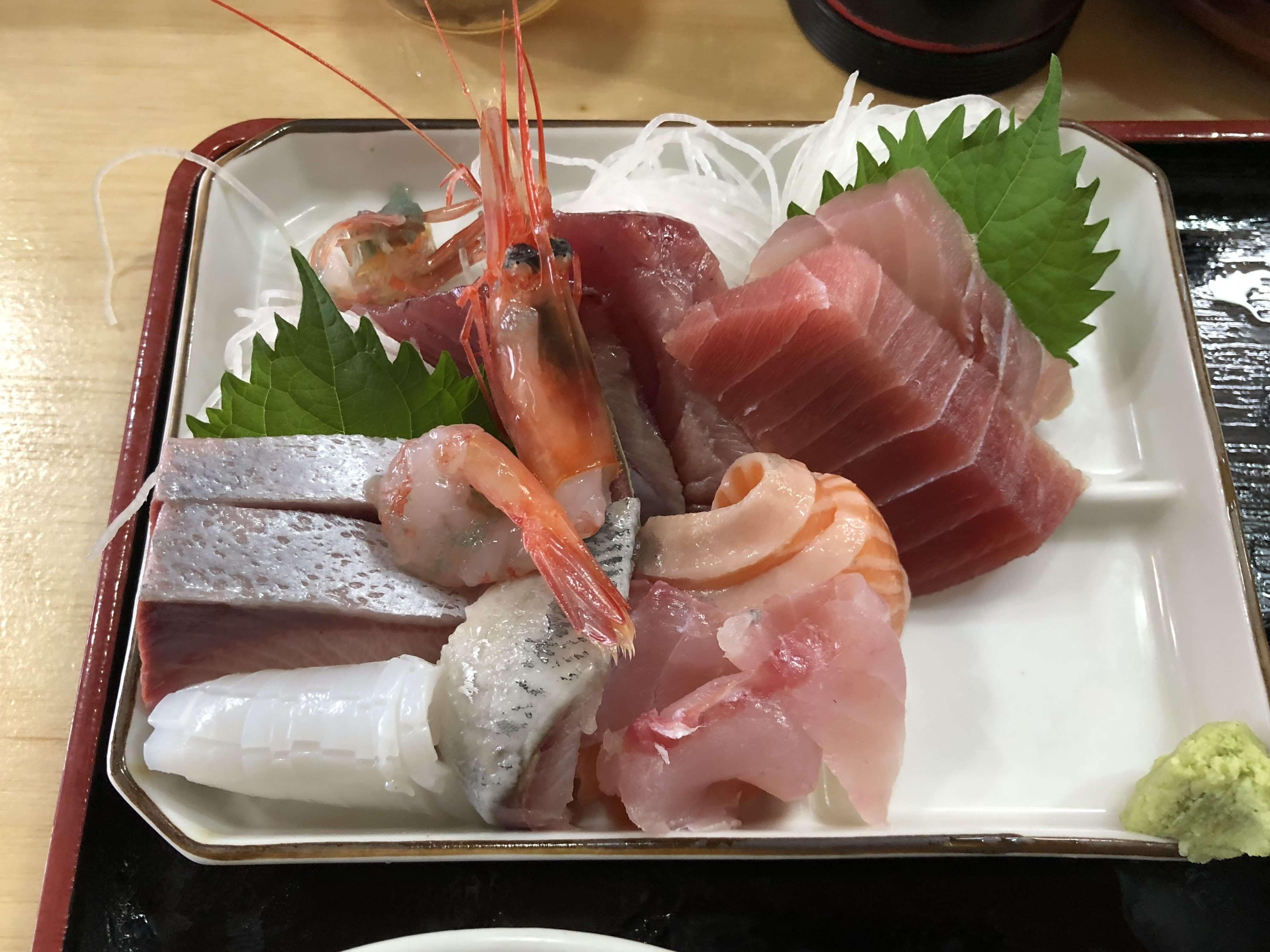 『 早舟 』大満足ボリューム満点全8種類の刺身盛合せ定食が1,000円 !! コスパ激高っ!!