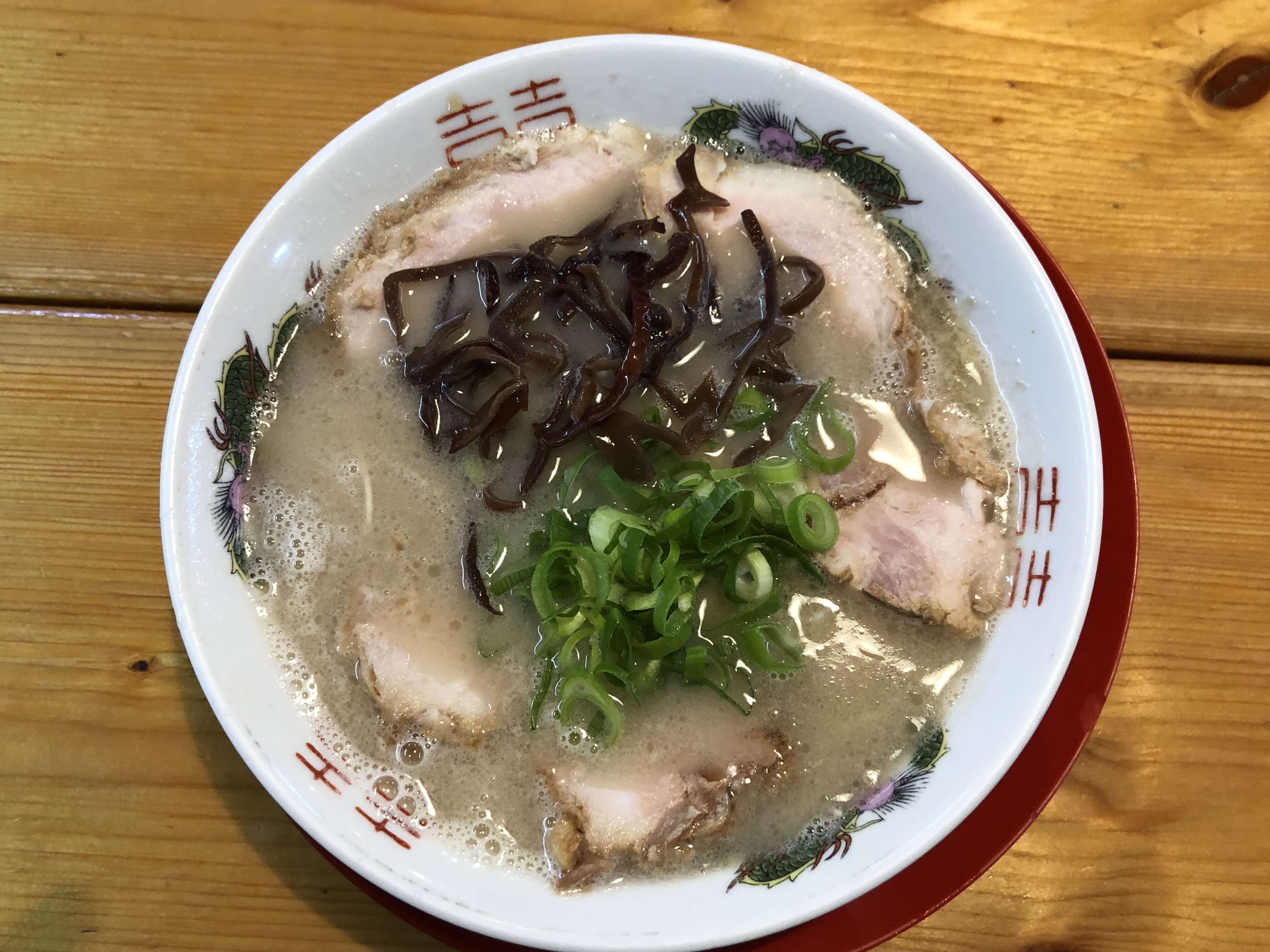 『 博多ラーメン がんばる軒 』金沢で本場の豚骨ラーメン !! 気分は博多〜
