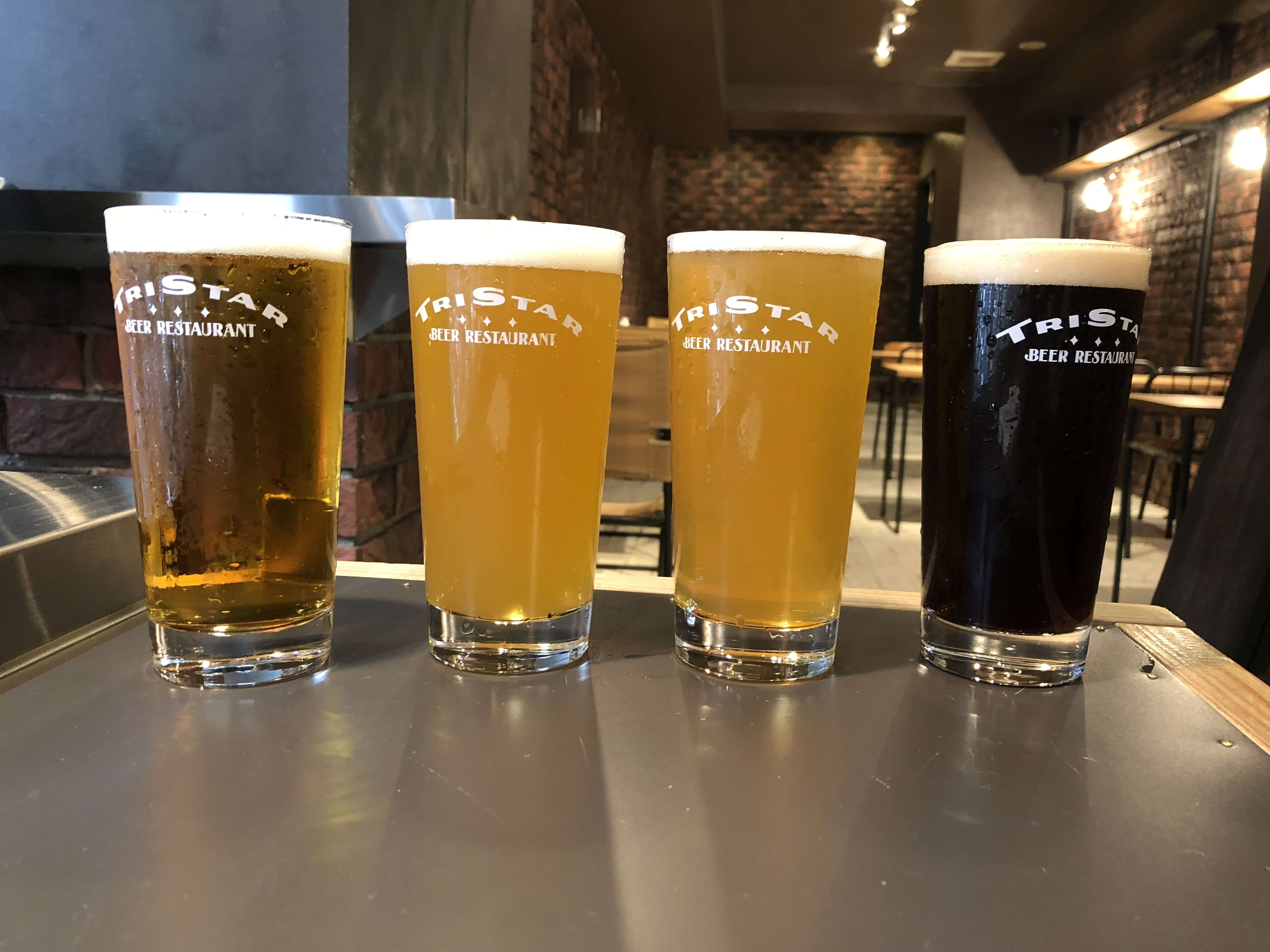 『 TRI STAR BEER RESTAURANT 』クラフトビール好きよ集まれ !! 国内海外の厳選樽生クラフトビールを10種類以上楽しめる場所