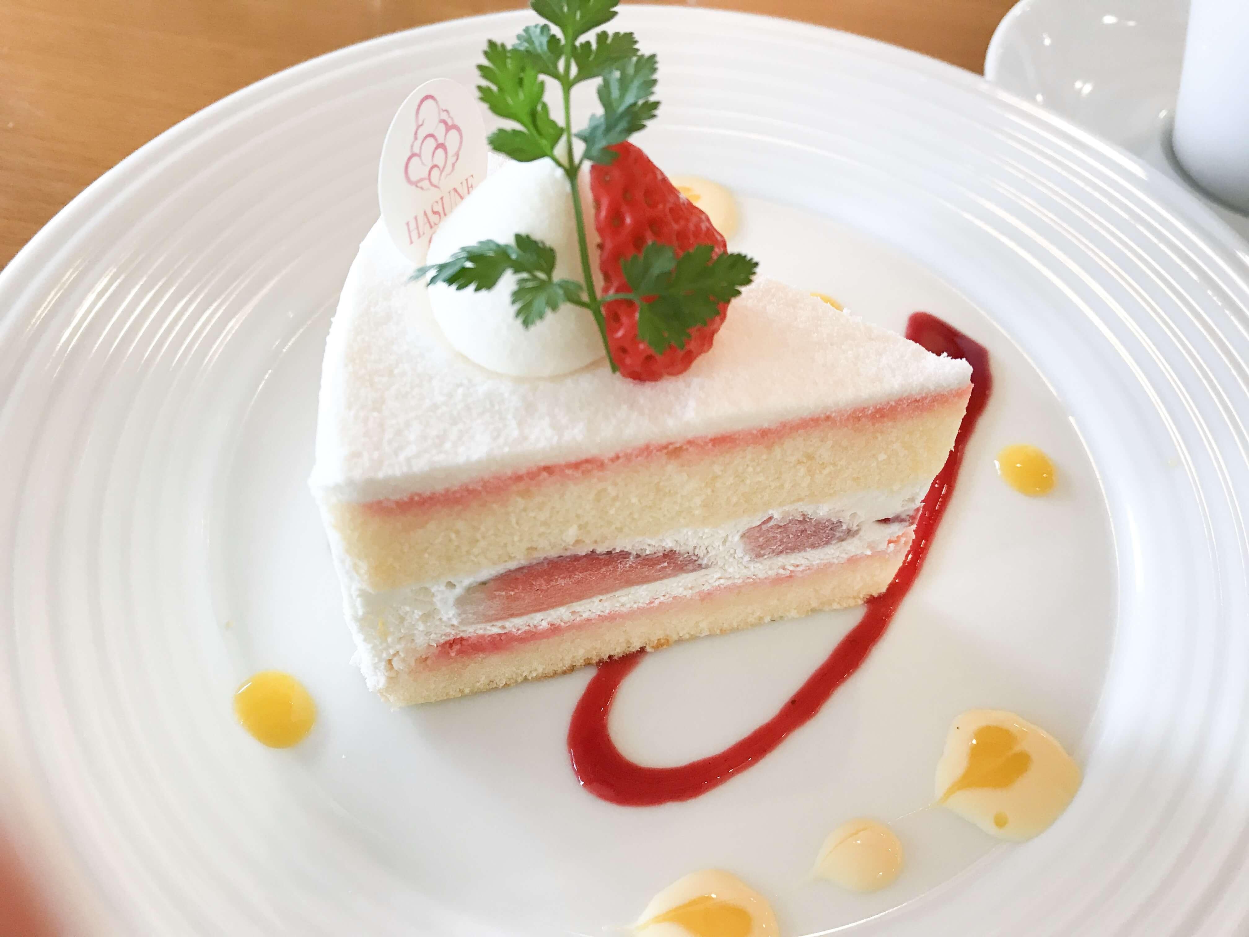 『ハスネテラス』お得なケーキセットがおススメ!ふわふわショートケーキは至福の味。
