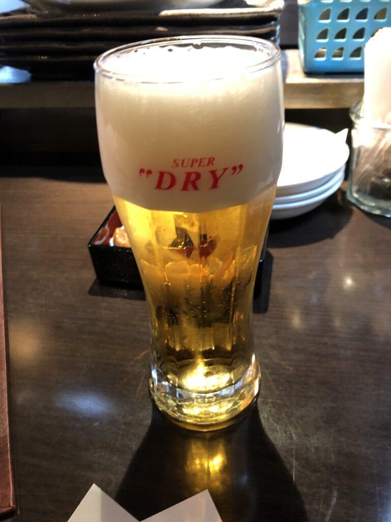 居酒屋六度_ビールはアサヒ