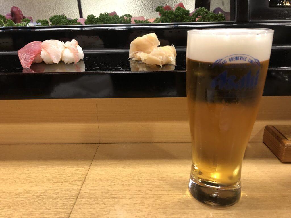 一平鮨_ビール