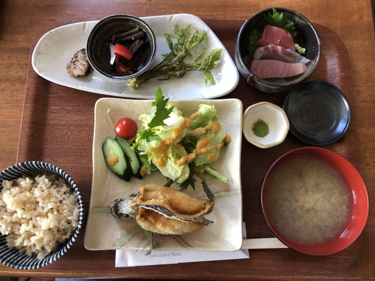 DiningBarかなざわのおと_日替り魚ランチ