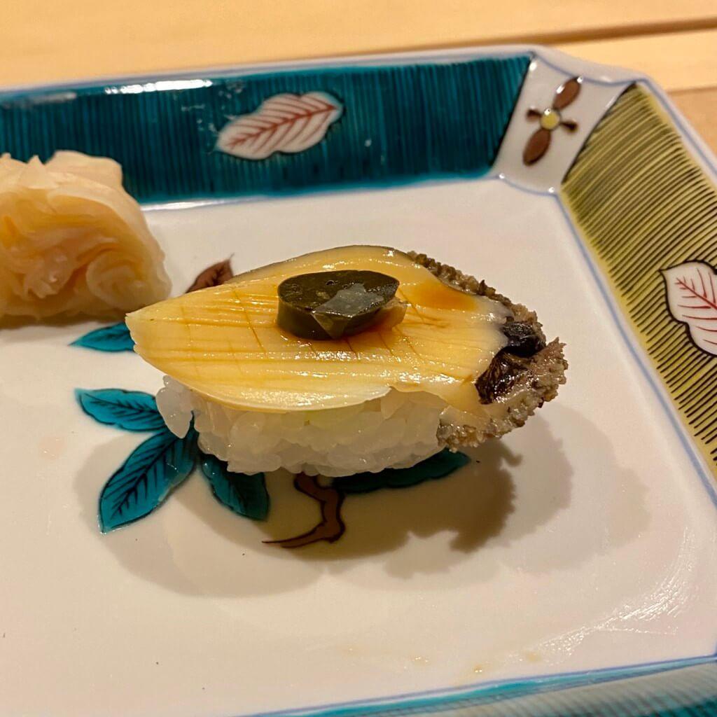 Sushi直_蒸し鮑