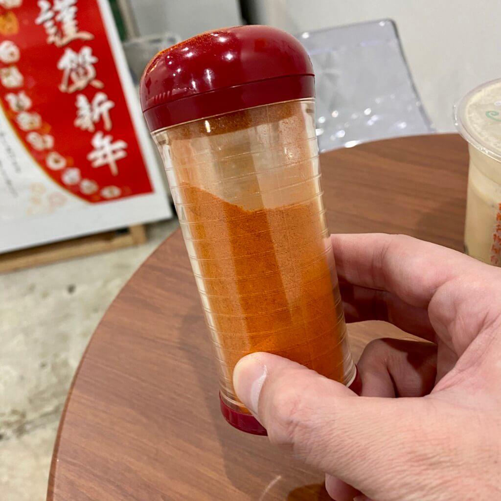 李さんの台湾名物屋台_辛いパウダー